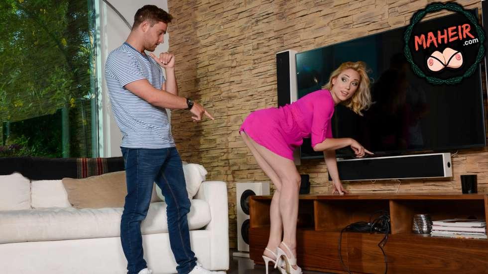 Arsız hatun televizyonu bozup komşunun kocasını eve çağırdı