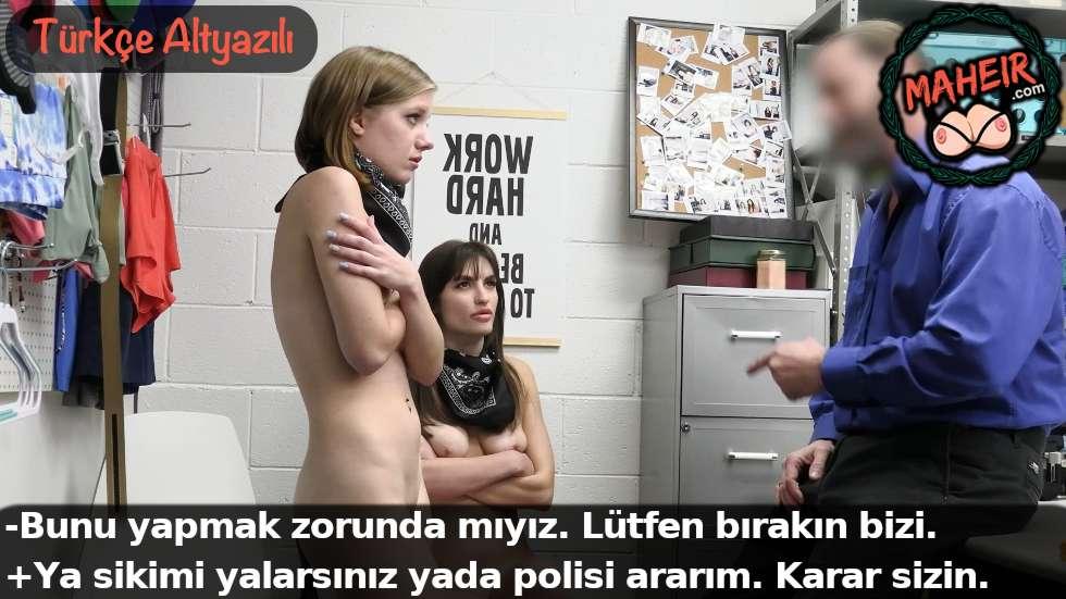 Yaramaz kızlar hırsızlık yaparken yakalandı bedelini ödedi