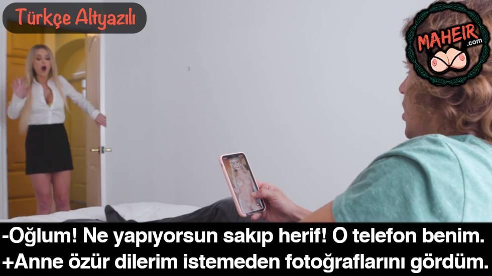 Telefonumu Oğluma Verdim Cinsel Fotoğraflarıma Bakıp Asılmış